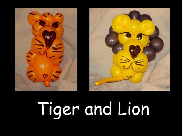 Tiger and Lion Balloon Animal Bracelets by Vicky Kimble