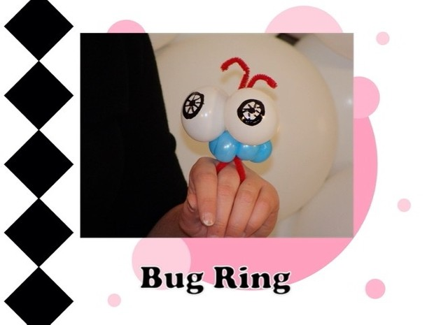 Bug Balloon Animal Ring Design by Melissa Vinson
