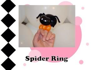 Spider Balloon Animal Ring Design by Melissa Vinson