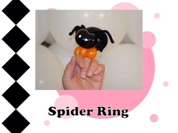 Spider Balloon Animal Ring Design by Melissa Vinson