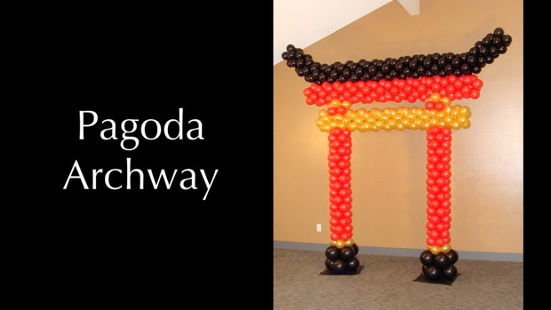 Pagoda Style Balloon Arch by Melissa Vinson