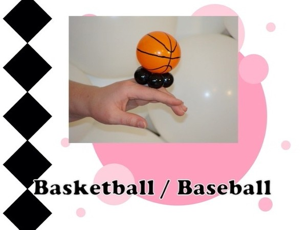 Basketball or Baseball Balloon Ring Design by Melissa Vinson