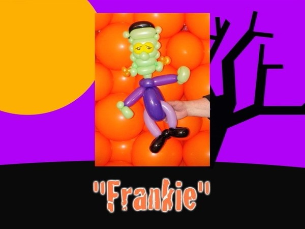 Frankie Halloween Frankenstein Balloon Animal Design by Jeff Hayes