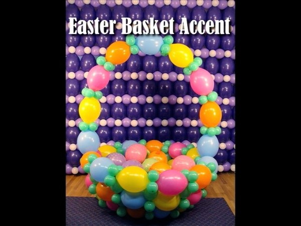 Easter Basket Balloon Sculpture and Photo Op Design by Steven Jones