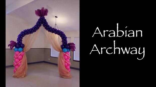 Arabian Archway Balloon Design by Melissa Vinson