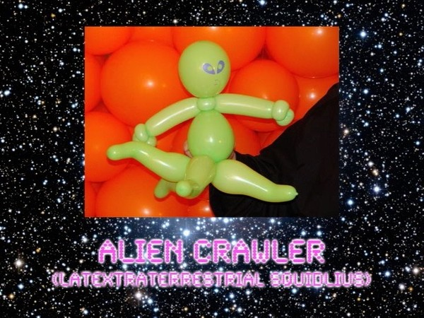 Alien Crawler Balloon Sculpture by Jeff Hayes