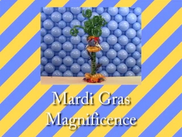 """Mardi Gras"" Table Centerpiece by 'Tope Abulude, CBA - Single recipe video"