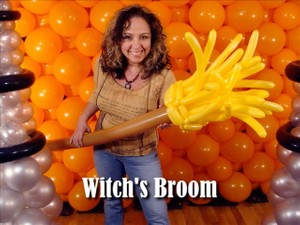 Witch's Broom Balloon Sculpture by Steven Jones