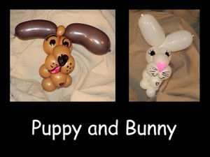 Puppy and Bunny Balloon Bracelet Designs by Vicky Kimble