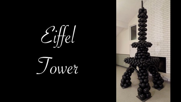 Eiffel Tower Balloon Sculpture Design by Melissa Vinson