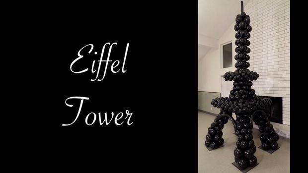 Eiffel Tower Balloon Sculpture Design by Melissa Vinson