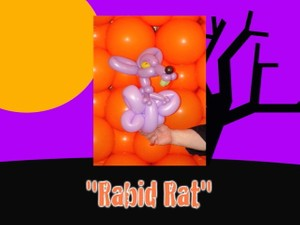 Rabid Rat Halloween Balloon Animal by Jeff Hayes