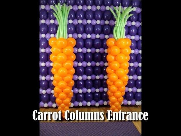 Easter Bunny Carrot Balloon Column Design by Steven Jones