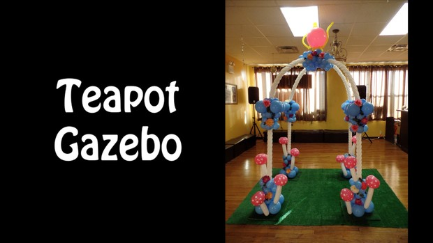 Teapot Gazebo Balloon Arch Design by Alexa Rivera