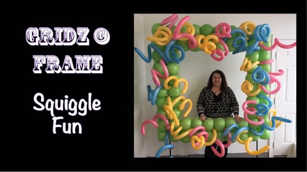 Squiggle Fun Balloon Photo Frame Design by Patty Sorell