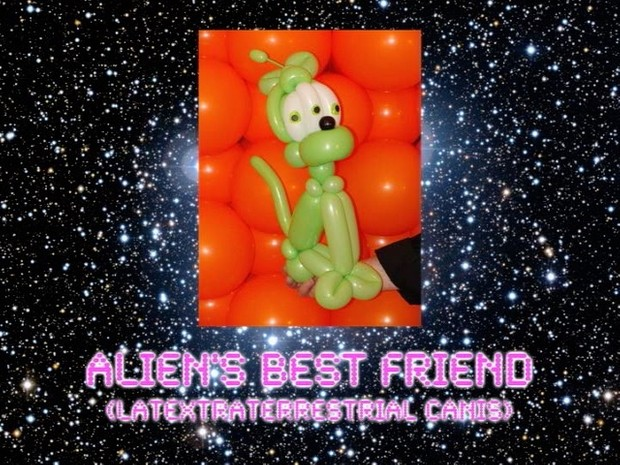 Alien's Best Friend Balloon Dog Design by Jeff Hayes