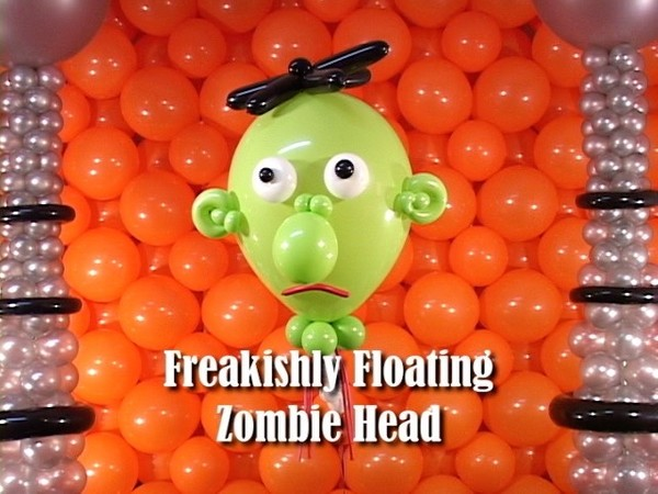 Floating Zombie Head Balloon Decoration by Steven Jones