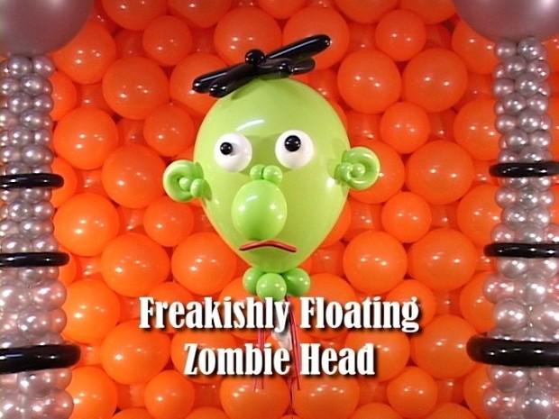 Floating Zombie Head Balloon Decoration by Steven Jones