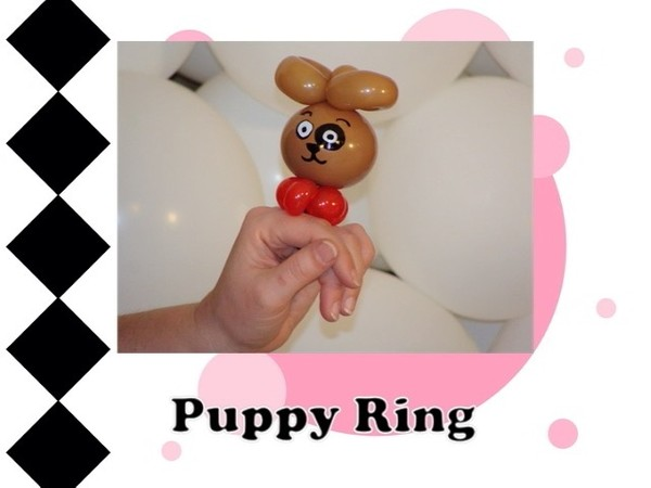 Puppy Balloon Animal Ring Design by Melissa Vinson