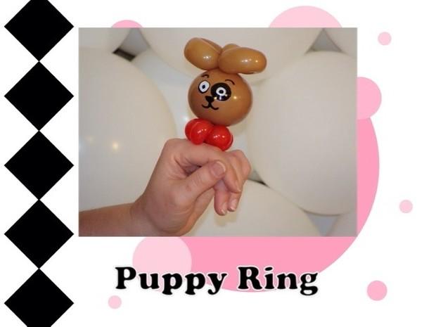 Puppy Balloon Animal Ring Design by Melissa Vinson