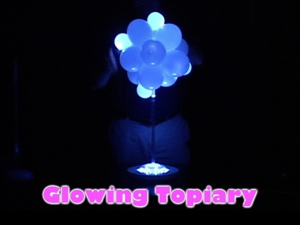 Glowing Topiary Balloon Centerpiece Design by Steven Jones