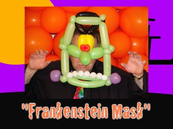 Frankenstein Mask Balloon Design by Jeff Hayes