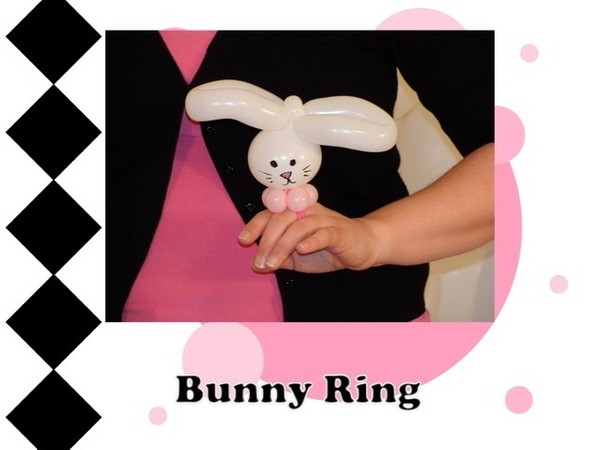 Bunny Balloon Animal Ring Design by Melissa Vinson