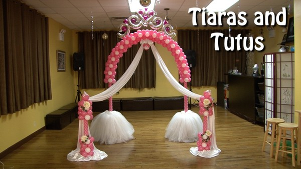 Tiaras and Tutus Balloon Arch Design by Alexa Rivera