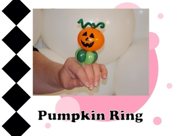 Pumpkin / Jack o Lantern Balloon Ring Design by Melissa Vinson