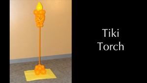 Tiki Torch Balloon Column Design by Melissa Vinson