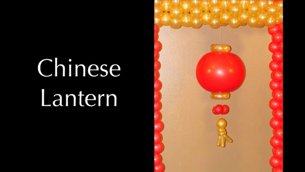 Chinese Lantern Balloon Decor Design by Melissa Vinson