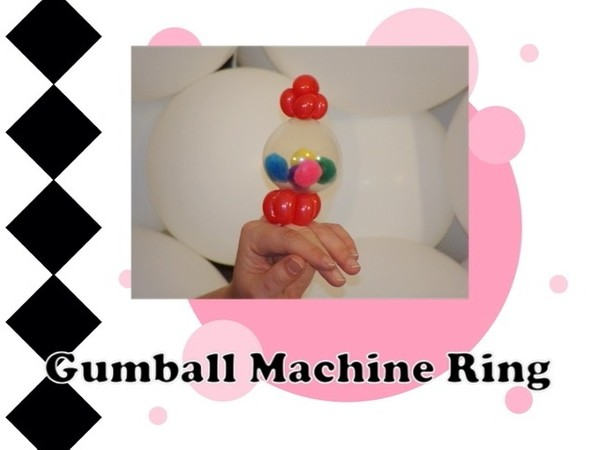 Gumball Machine Balloon Ring Design by Melissa Vinson