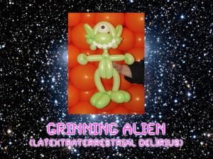 Grinning Alien Balloon Animal Sculpture by Jeff Hayes