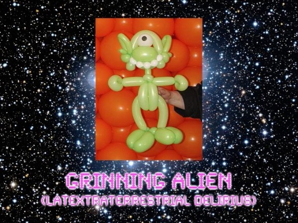 Grinning Alien Balloon Animal Sculpture by Jeff Hayes