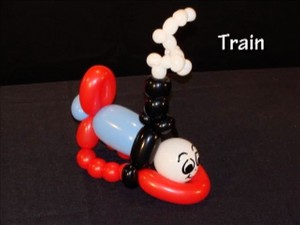 Talking Toy Train - Twisting Balloon Design by Tonya McNeill