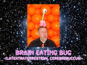 Brain Eating Bug Balloon Animal Sculpture by Jeff Hayes