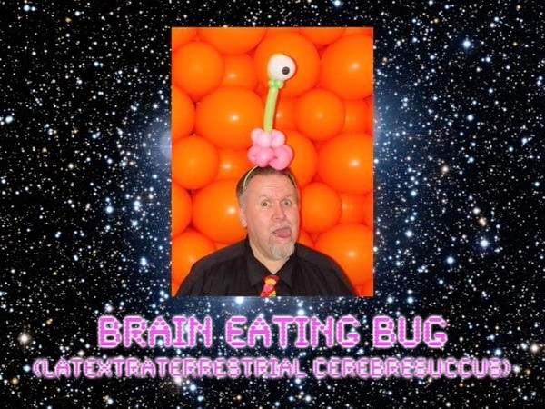 Brain Eating Bug Balloon Animal Sculpture by Jeff Hayes
