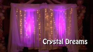 Crystal Dreams Fabric Backdrop Decoration by Alexa Rivera