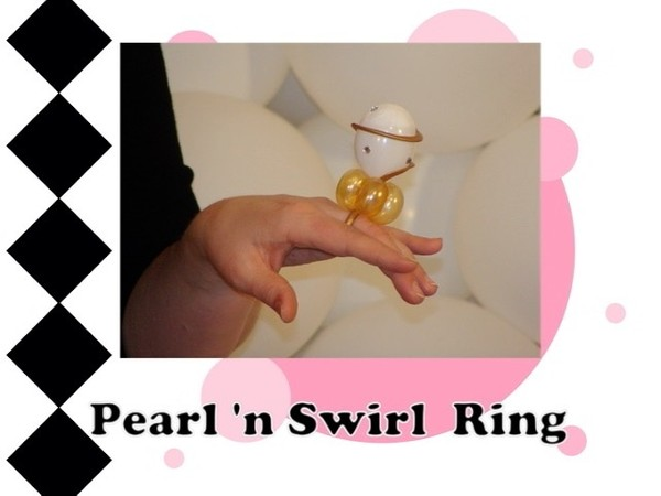 Pearl and Swirl Balloon Ring Design by Melissa Vinson