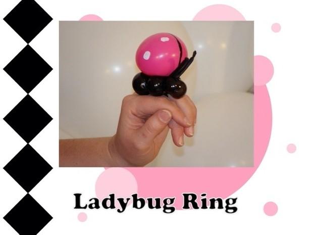 Ladybug Balloon Animal Ring Design by Melissa Vinson