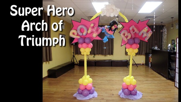 Super Hero Arch of Triumph Balloon Arch by Alexa Rivera