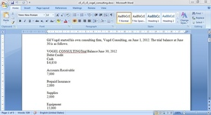 Gil Vogel started his own consulting firm, Vogel Consulting, on June 1, 2012