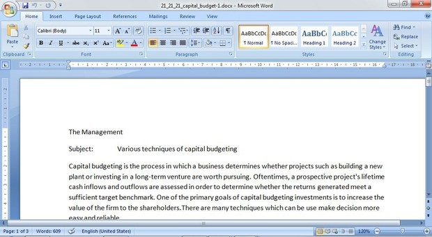QRB/501 Version 4 - Capital Budgeting Case