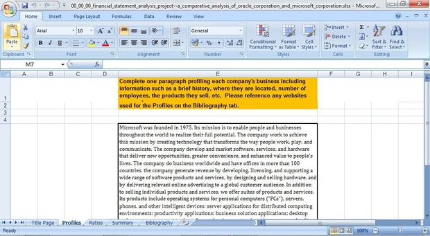 Financial Statement Analysis Project—A Comparative Analysis of Oracle Corporation