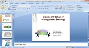 Classroom Behavior Management Strategy - PowerPoint presentation