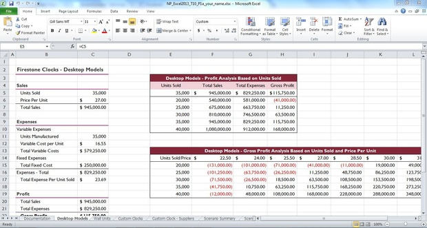 New Perspectives Excel 2013 Tutorial 10: SAM Project 1a Firestone Clock Company