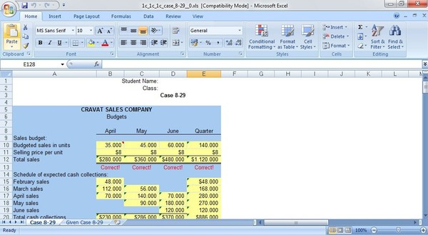(Solved) Solution Evaluating a Company's Budget Procedures & Master Budget with Supporting