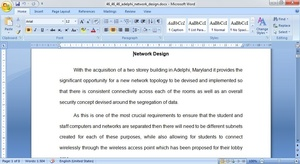 Network Design Paper