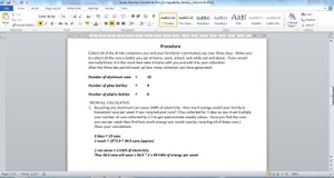 Waste Watchers Worksheet