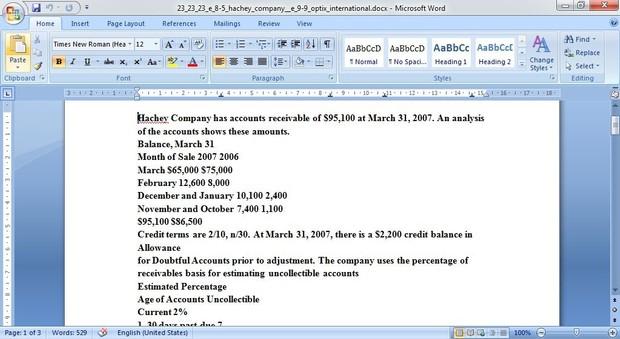 E 8-5: Hachey Company & E 9-9 Optix International